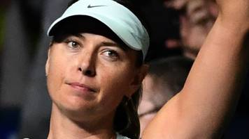 maria sharapova knocked out of kremlin cup by magdalena rybarikova