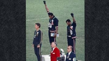 long before nfl players started kneeling, olympians raised a fist