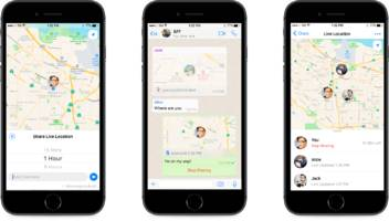 WhatsApp lets users share their real-time locations
