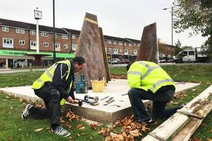 cost revealed of 'hideous' war memorial that's left mackworth residents furious
