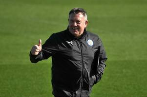 craig shakespeare spent his last moments as leicester boss watching nottingham forest