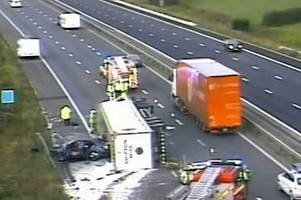 the m5 crash that just scooped the title for the worst traffic jam of the year