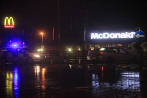 man reportedly jumping on moving cars on a390 near mcdonald's in st austell