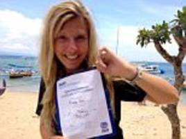 daughter of sas hero killed by motorboat in malaysia