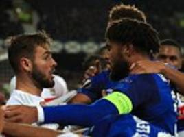 everton and ashley williams will surely face uefa action