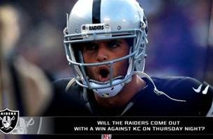 Can Raiders right the ship against the Chiefs Thursday night?