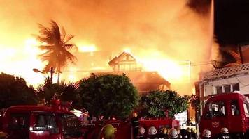 Myanmar's Kandawgyi Palace hotel destroyed by fire