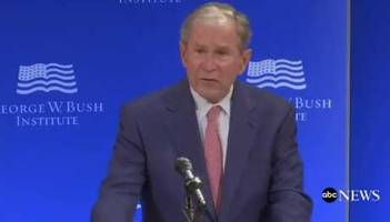 an outraged george w. bush lashes out at trump: bigotry seems emboldened