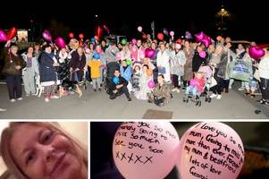 Friends and family of Mandy Wilkins release balloons during special memory walk