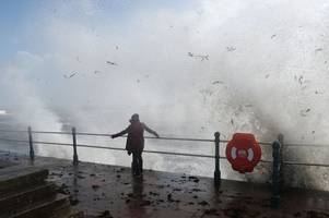 storm brian is officially named as wales prepares for gusts of up to 70mph this weekend