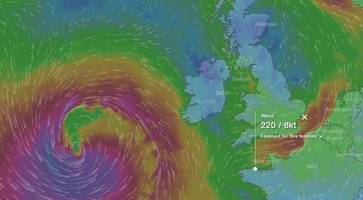 watch: path of brian as storm to hit ireland - power restored to ophelia hit homes in northern ireland