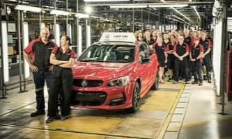 Australian Car Production Stops With The Last Holden VF II Commodore