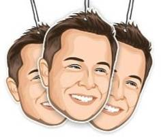 have elon musk constantly stare at you with this elon's musk air freshener