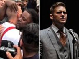black man hugs nazi outside richard spencer event
