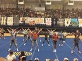 Oklahoma fraternity perform hilarious cheer routine