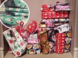 Organised mothers show off their Christmas wrapping