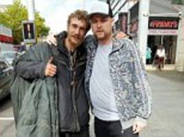 sales manager gave his £120 trainers to homeless man
