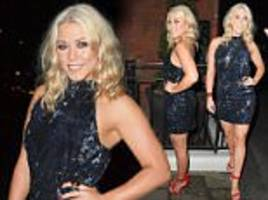 Amelia Lily dazzles in a sequinned mini at fashion launch