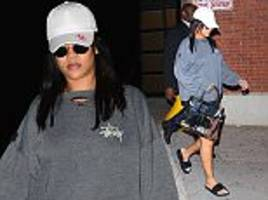 Rihanna puts on a leggy display in New York City