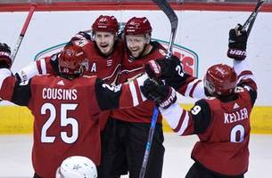 keller, stepan each score twice but coyotes remain winless