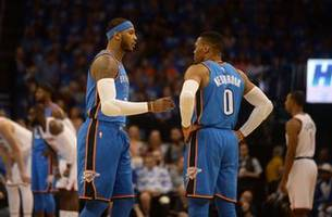Carmelo Anthony, Paul George make debut with the Oklahoma City Thunder
