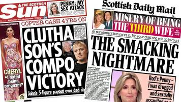scotland's papers: clutha compensation victory