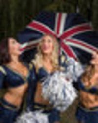 la rams cheerleaders are ready to brighten up glum arsenal fans - exclusive