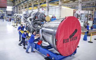 blue origin's be-4 rocket engine completes first hot-fire test