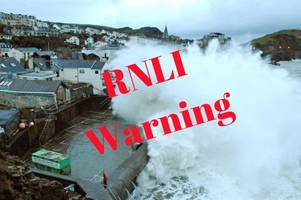 rnli urges people to stay safe ahead of storm brian