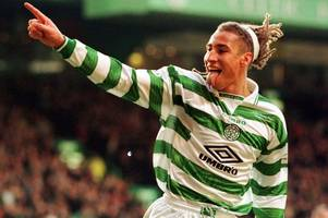 celtic legend henrik larsson spotted out and about dancing the macarena in busy ayr nightclub