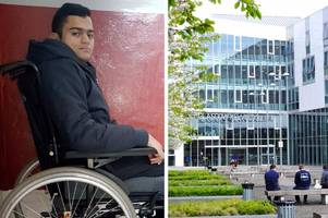 disabled teen lost place at glasgow college because he is trapped in a top-floor flat