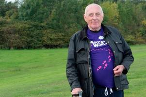 our people: oap who overcame stroke puts on his walking shoes for alzheimer scotland