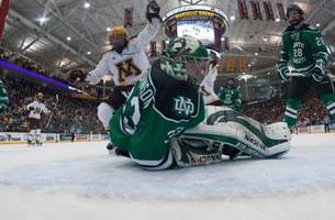 no. 8 minnesota men's hockey tops no. 4 north dakota 2-1