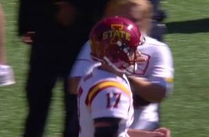 Iowa State extends lead to 24-6 on Kyle Kempt's 3rd TD pass of the first half