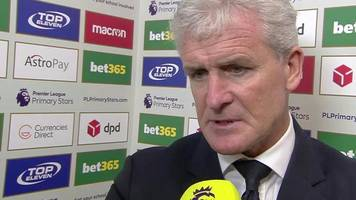 stoke 1-2 bournemouth: mark hughes says potters contributed to own downfall