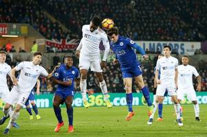 what time does swansea v leicester city kick-off in premier league? is it on tv?