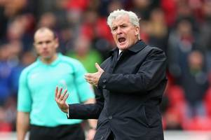 stoke city 1 bournemouth 2: mark hughes urges players to get back in the saddle after sinking into the bottom three