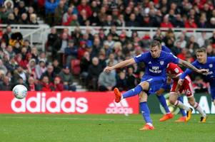 middlesbrough 0-1 cardiff city: joe ralls' goal ensures neil warnock's side stay in touch with championship leaders