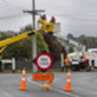 crash causes power outage in pukehangi