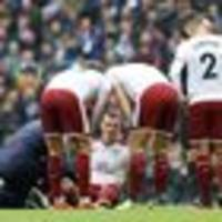 football: chris wood suffers hamstring injury in burnley loss