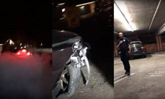 vigilantes chase and catch female drunk driver after massive hit-and-run