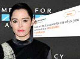 Rose McGowan subtly threatens Harvey Weinstein on Twitter