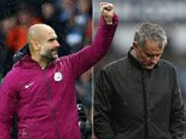 man city boss guardiola is in a different league mourinho