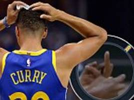 stephen curry insists he didn't throw mouthpiece at ref