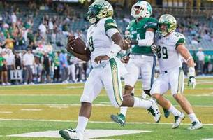 quinton flowers collects 3 tds, usf avoids upset with win over tulane