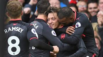 arsenal net five against tame everton