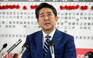 japan's prime minister shinzo abe projected strong victory in election