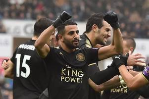 riyad mahrez dedicates leicester city win over swansea to craig shakespeare