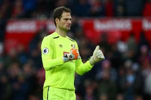 stoke should have had penalty for asmir begovic 'madness' as keeper sticks boot in choupo's groin, say match of the day pundits