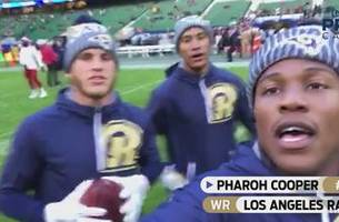 get on the field with the rams at twickenham stadium in london   procast